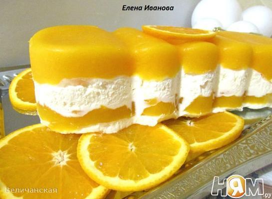 Апельсиново-манговое семифредо