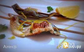 Шашлычки из рыбы с мёдом и розмарином
