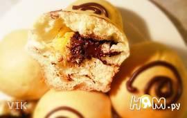 Дрожжевые булочки с мандаринами и шоколадом