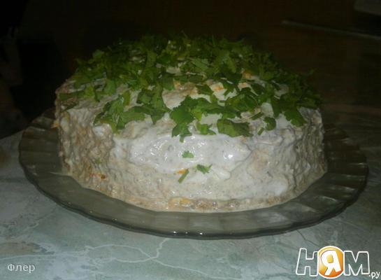 """Печеночный салат """"Полосатик"""""""