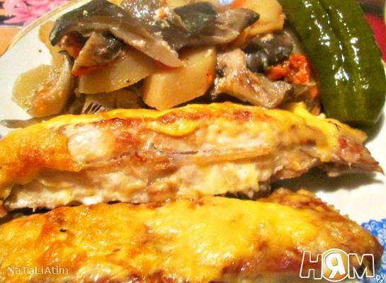Рецепт Камбала, запеченная в духовке