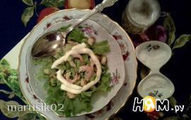 Салат a-la Caesar с креветками
