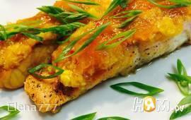 Сёмга под острым ананасовым соусом