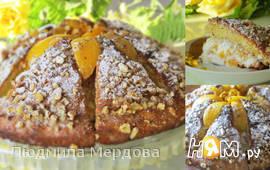 """Торт """"Персиковый вулкан"""""""