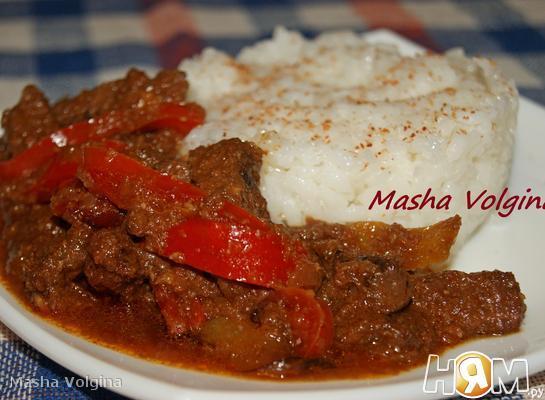 Рецепт Говядина по-мексикански с перцем