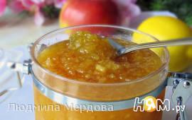 Яблочное повидло с апельсинами и лимоном в МВ