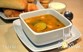 Индийский суп из фасоли черный глаз