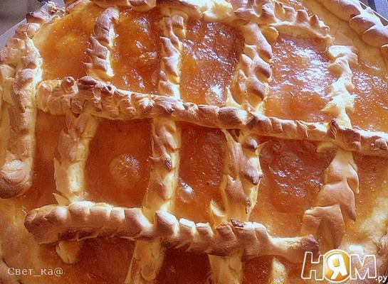 Рецепт Открытый пирог с повидлом