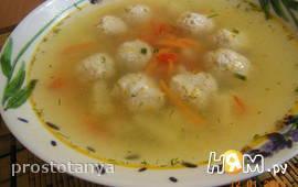 Суп с фрикадельками из индюшиной грудки