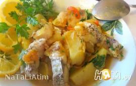 Калдейрада (треска тушенная с овощами)