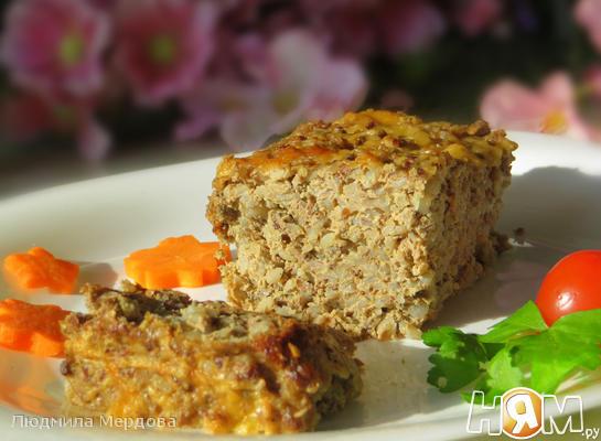 Рецепт Гречнево-печёночная запеканка