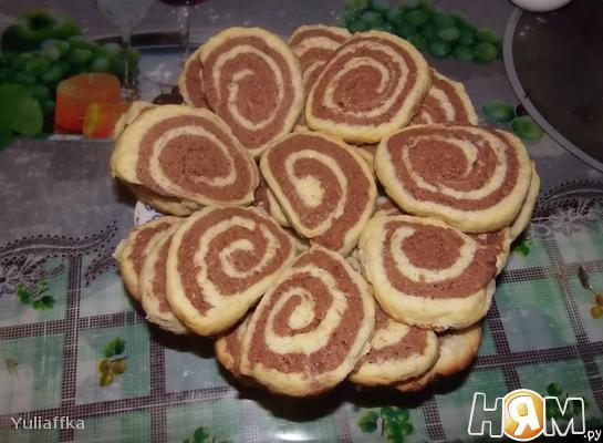 Рецепт Песочное печенье «Улитки»