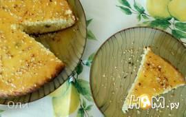 Творожный пирог со сливично-апельсиновым соусом