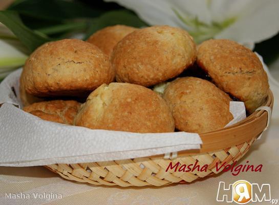 Рецепт Овсяное печенье с творожными шариками