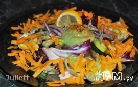 Теплый морской салат