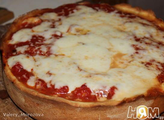 Рецепт Чикагская глубокая пицца