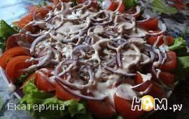 Открытый салат с тунцом