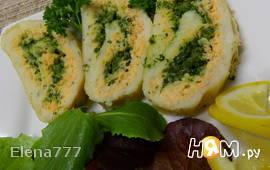 Террин рыбный с крабами и шпинатом