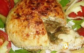 Куриные зразы с баклажанами и сыром