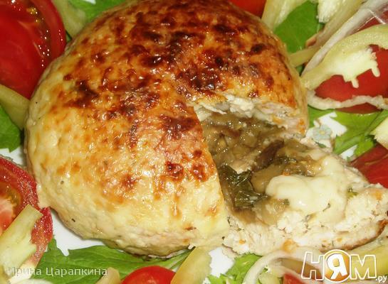 Рецепт Куриные зразы с баклажанами и сыром