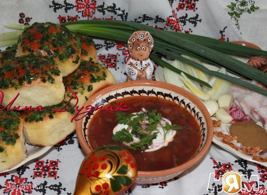Рецепт Украинские пампушки с чесноком