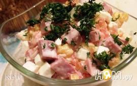 Салат с цитрусами и мясом