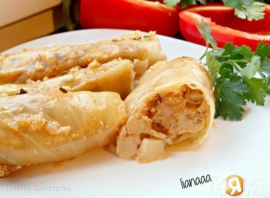 Рецепт Толма с картошкой и булгуром