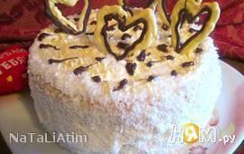 """Торт """"Нежность"""" с творожно-ананасовым кремом"""
