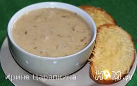 Луково-сырный суп с  гренками