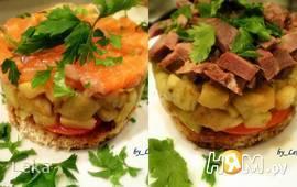 Закуска из баклажан с семгой или языком