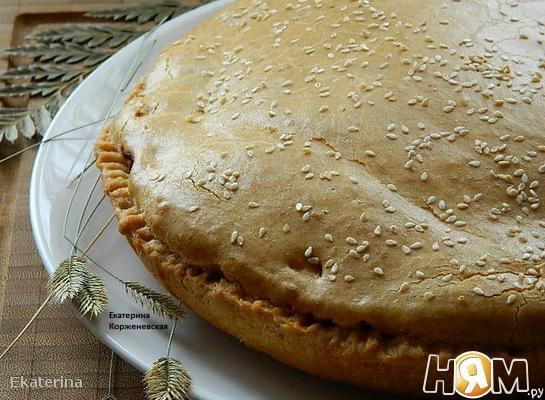 """Рецепт Мясной пирог """"Любящая жена"""""""
