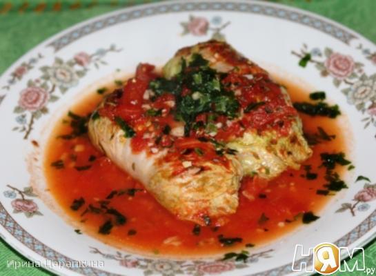 Рецепт Голубцы из пекинской капусты с отварным мясом