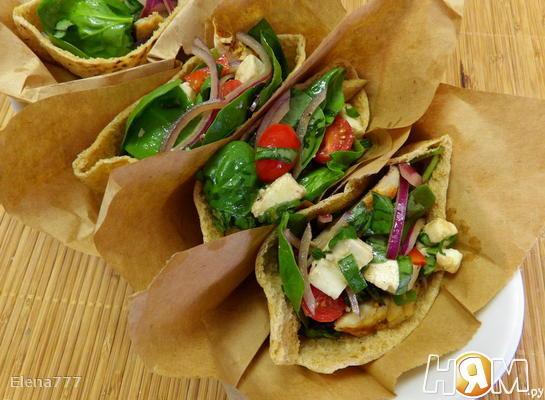 Салат в пакетах из питы