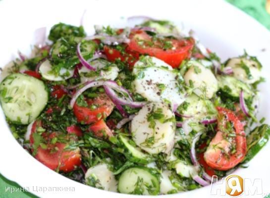 Летний салат по-деревенски