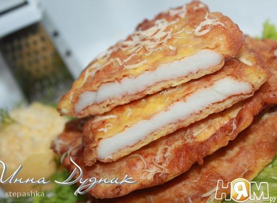 Рецепт Куриные отбивные в сырно-яичном кляре