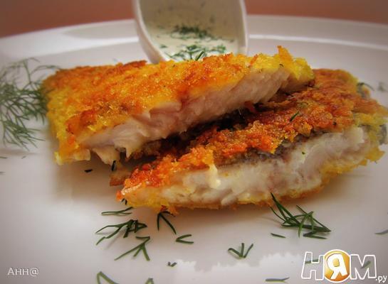 Рецепт Сельдь жареная с имбирно-чесночным соусом