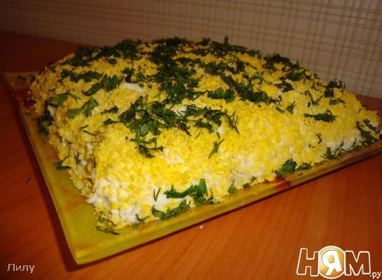 Рецепт Салат со шпротами и яйцом