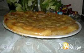 Перевернутый банановый пирог с карамелью