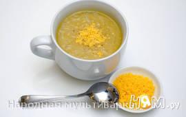 Французский луковый суп с коньяком в мультиварке