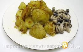 Картофель со сметаной и хмели-сунели в мультиварке