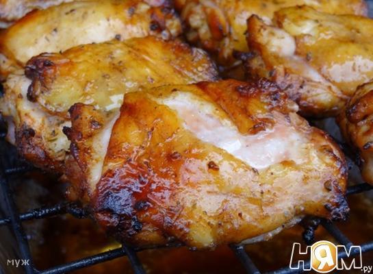 Куриные бёдра в соево-пивном маринаде