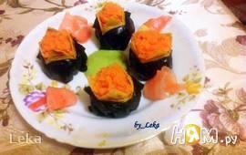 Темари-суши с нори и японским омлетом
