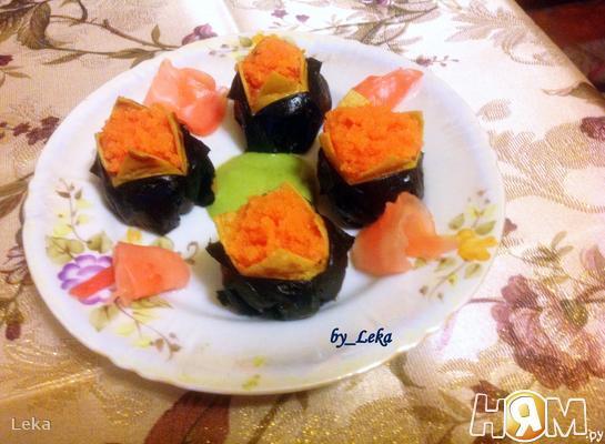 Рецепт Темари-суши с нори и японским омлетом