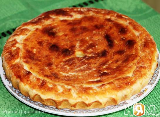 Рецепт Пирог с курицей и соусом бешамель на пресном тесте