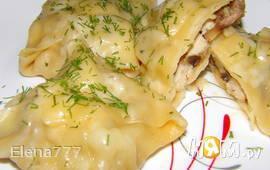 Конверты паровые с курицей и грибами