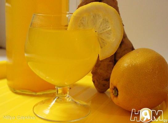 Рецепт Напиток с имбирем, лимоном и куркумой