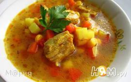 Суп с кукурузой