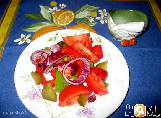 """Салат постный """"Весеннее счастье"""" из овощей"""