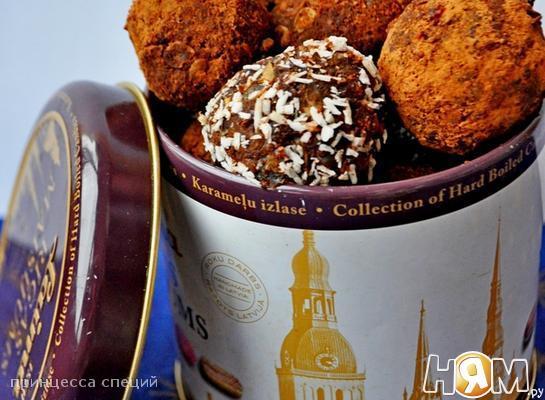 Полезные конфеты из чечевицы и фиников