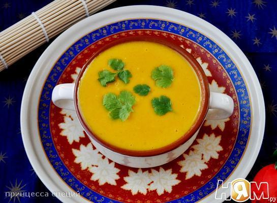 Рецепт Тыквенный суп в азиатском стиле